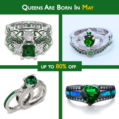 Birthstone rings and jewelry