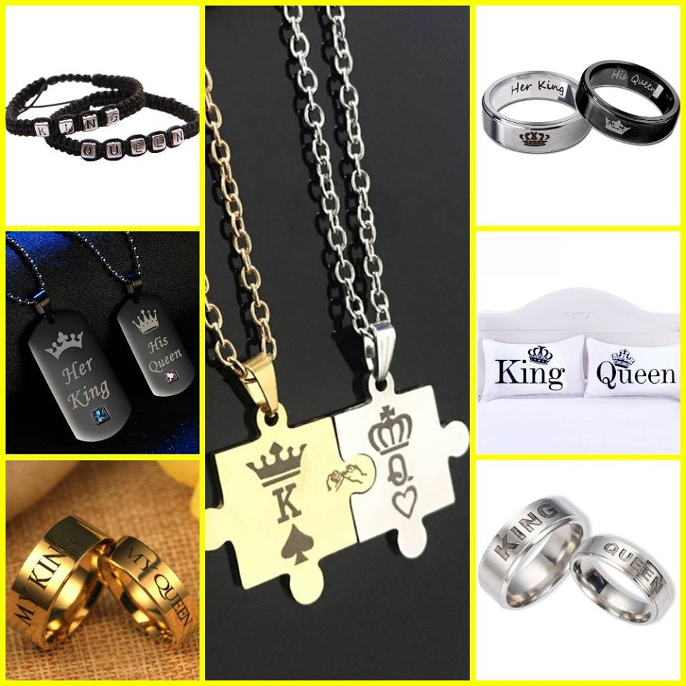 king and queen couples jewlery